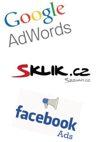 Loga AdWords, Sklik a FB Ads