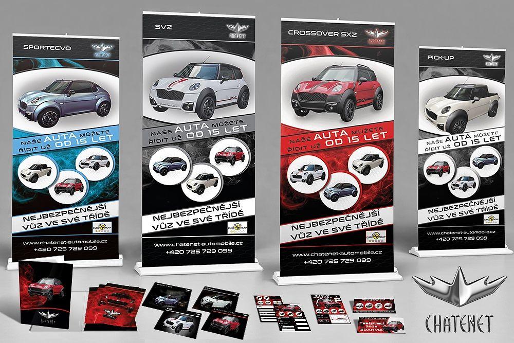 Firemní image pro automobilový veletrh a auta Chatenet