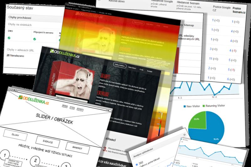 Tvorba nových webových stránek i jejich redesign se neobejdou bez důkladné analýzy, UX, grafického návrhu, ...