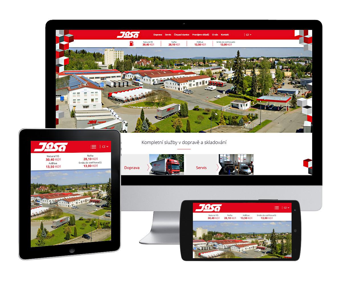 Nové webové stránky pro benešovskou firmu JASA