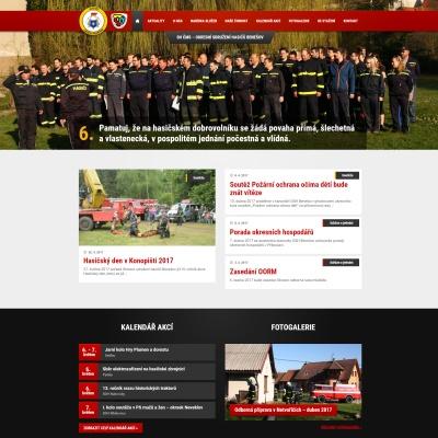 Nové webové stránky, které jsme tvořili pro benešovské sdružení dobrovolných hasičů