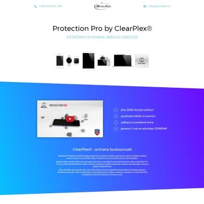Náhled produktové stránky pro ochrannou fólii na disleje