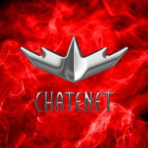 Logo Chatenet na vytvořené grafice barevného kouře