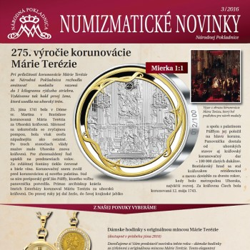 Ukázka grafického zpracování Numizmatických novin pro slovenskou Národní pokladnici