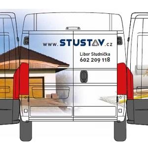 Výřez celopolepu auta STUSTAV