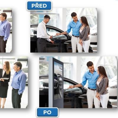 Výřez z grafických retuší pro firmu Jansen Display s.r.o. a kampaň Autosalon