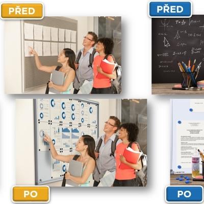 Výřez z grafických retuší pro firmu Jansen Display s.r.o. a kampaň Školy
