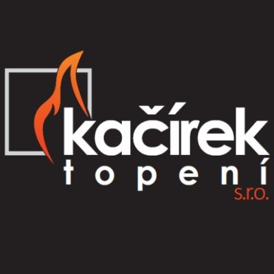 Nové logo použité na vizitce pro Kačírek topení s.r.o.
