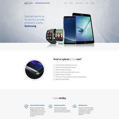 Náhled webových stránek Samsung servisu pro iDirection