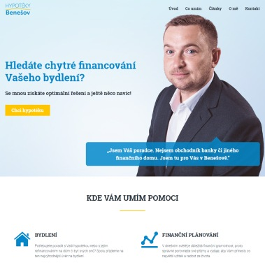 Webové stránky pro Davida Hrušku