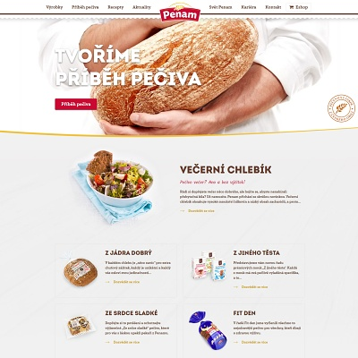Vytvořili jsme webové stránky pro Penam, největší pekárny v České republice