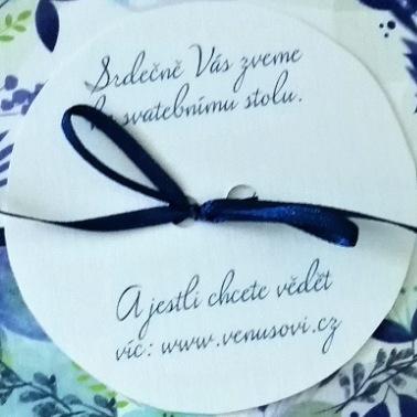 Svatební oznámení pro novomanželé Venušovi
